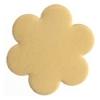 Metal Blank 24ga Brass Flower 22mm No Hole 9pcs